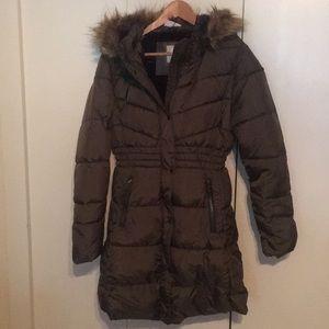 Jackets & Blazers - Olive green long coat